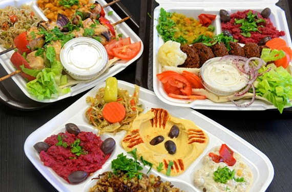 Middle Eastern fare such as charcoal-grilled shish taouk, falafel and a tasting platter including hummus and fattoush makes for outstanding eating at Mesopotamia Delicatessen. - SCOTT ELMQUIST