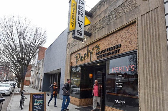 Perly's at 111 E. Grace St. is one of a number of richly detailed art deco buildings downtown. H. Carl Messerschmidt was the architect. - SCOTT ELMQUIST