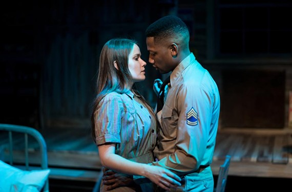 "The charming Christie Jackson as Violet and the scene-stealing Josh Marin as Flick in ""Violet,"" a musical that features strong vocal performances all-around."