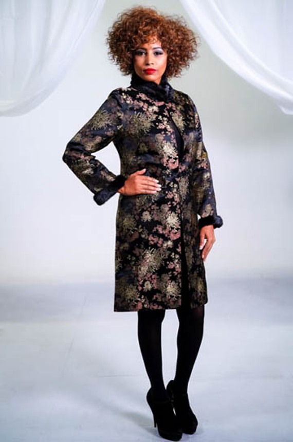 An outfit from the wearable art collection of Daphne Styles, a brand from Daphne Reid.