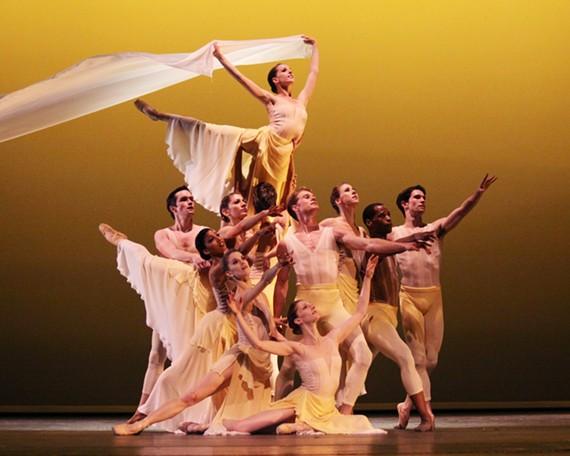 """Richmond Ballet dancers in """"Lift the Fallen"""" by Ma Cong. Richmond Ballet. - SARAH FERGUSON"""