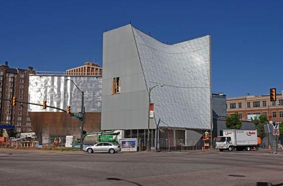 VCU's new Institute For Contemporary Art is still under construction. - SCOTT ELMQUIST