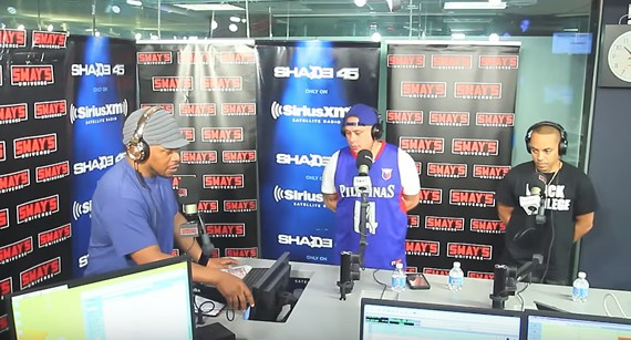 Sway Calloway and Noah O (middle) in the studio during the taping on May 19.