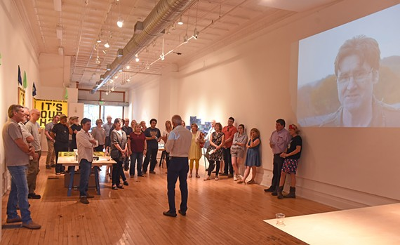 Local artists and friends of prolific artist, Bill Fisher, tell stories at 1708 Gallery on May 30.