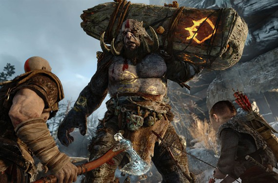 "Kratos is back and he has a kid in the ""God of War"" reboot. - SONY"
