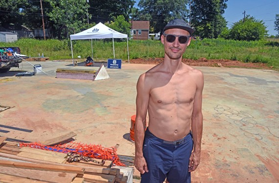 """Local skater Andrew Cauthen says """"skate parks are about movement, being in the present moment and learning to let go of the judgmental mind."""" - SCOTT ELMQUIST"""