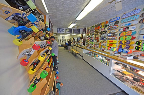 Venue Skateboards in Carytown has fostered nationally-recognized pros and continues to be a popular skater hangout. - SCOTT ELMQUIST