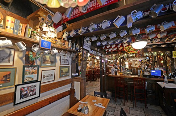 Penny Lane Pub, where Black drinks pints with his newspaper colleagues. - SCOTT ELMQUIST