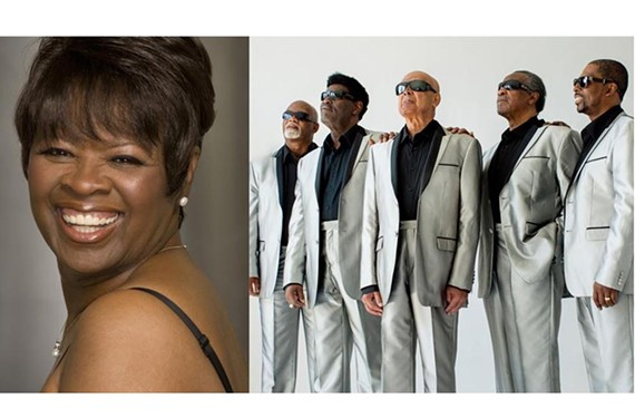 New Orleans' soul queen Irma Thomas and the Blind Boys of Alabama at the Modlin Center for the Arts' Camp Concert, Hall Nov. 11.