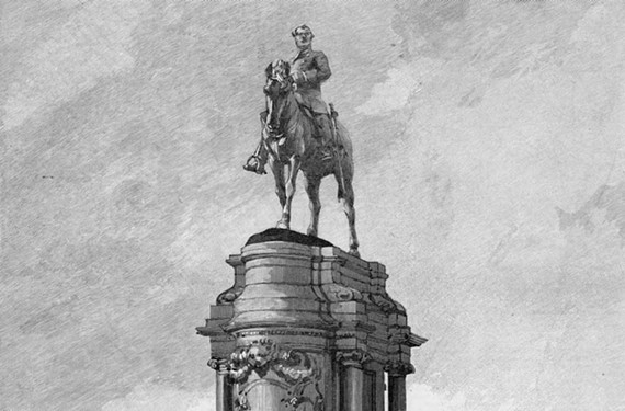 In illustration of the unveiling of the Robert E. Lee monument. - VCU LIBRARY