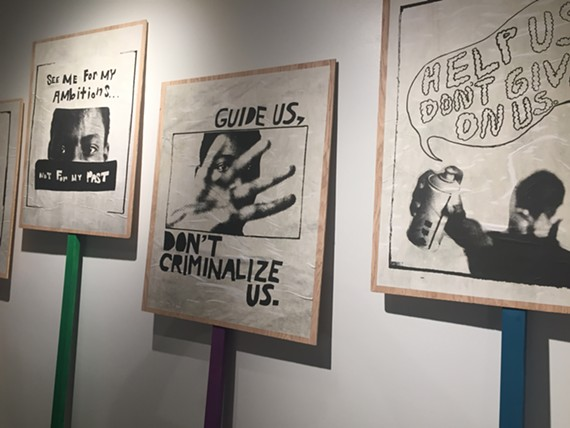 Some signs inside the My Reality exhibit, just the latest innovative work by Performing Statistics, a joint project by Art180 and Legal Aid Justice that hopes to radically reimagine Virginia's juvenile justice system.
