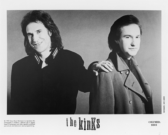 Rock legends: The Brothers Davies in a publicity shot.