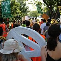 Extinction Rebellion Demonstration in Monroe Park