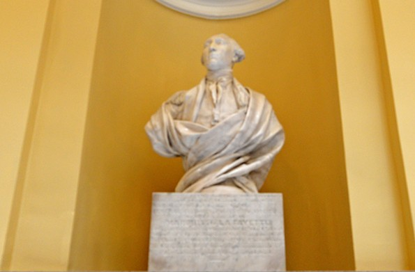 The bust of Lafayette by Houdon has a place of honor in the Capitol Rotunda. - SCOTT ELMQUIST