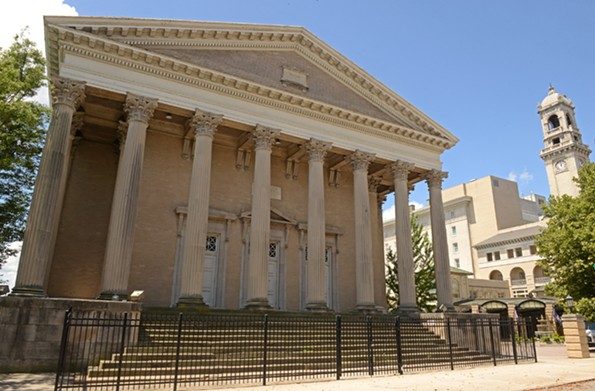 The former Second Baptist sanctuary on West Franklin was inspired by the Maison Carrée. It was better detailed than the Virginia's Capitol. - SCOTT ELMQUIST