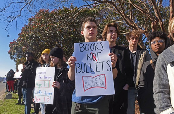 In March, a hundred Open High School students walked out of class in support of school safety and stricter gun laws. They observed 17 minutes of silence in honor of the Parkland shooting victims. - SCOTT ELMQUIST