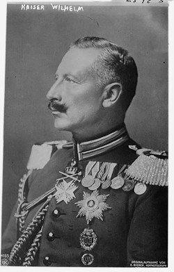 Kaiser Wilhelm II, emperor of Germany and King of Prussia from 1888-1918, during the last years of his life, from 1937 to 1941, he corresponded with Bobby Willis, a Richmond teenager.