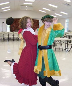 "An old backstage photo from a former CharacterWorks production of  ""A Christmas Carol,"" featuring Hayley Williamson-Dove and Sean Dunavant. ""The fact that the Richmond theatre community is just now learning of their bigoted belief system is shocking to me,"" says Dunavant today. - HAYLEY WILLIAMSON-DOVE"
