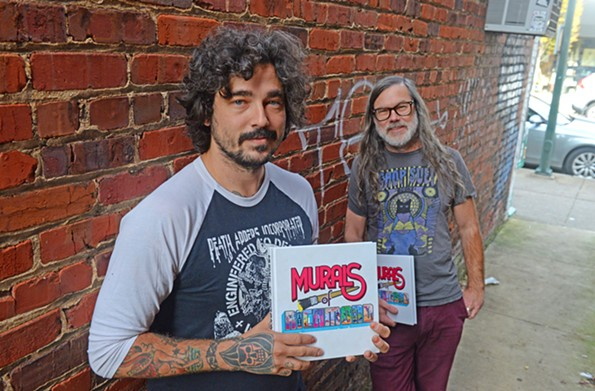 """Muralist Mickael Broth and his publisher, Ward Tefft of Chop Suey Books, joined forces to put out the definitive document on Richmond's mural boom, which began around 2012. The book """"Murals of Richmond"""" will be available on Nov. 18. - SCOTT ELMQUIST"""
