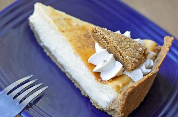 WPA Bakery's eggnog cheesecake. - ASH DANIEL