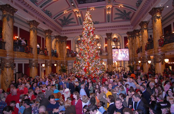Thirty-second annual tree lighting at the Jefferson Hotel, Nov. 26.