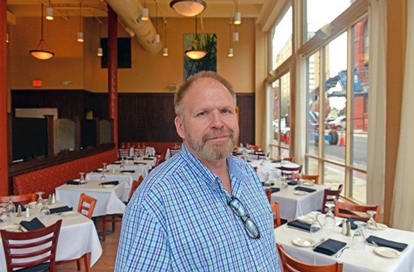Wright in his restaurant at Broad and Adams streets. - SCOTT ELMQUIST