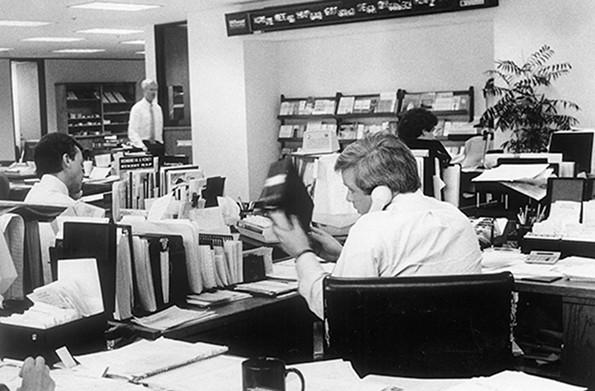 小麦第一证券的牛棚,5月6日1987.