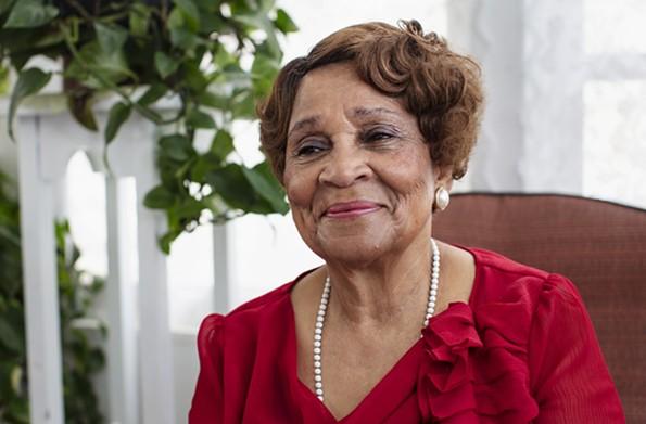 Mary White Thompson at home, Church Hill, 2018. - BRIAN PALMER