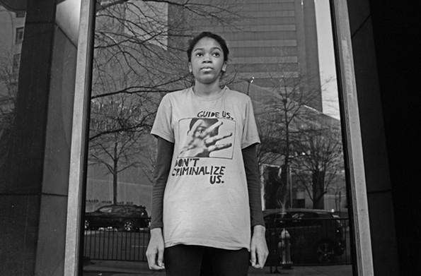 Stephanie Younger, 16, has been bullied and harassed for her stance on gun-violence prevention. The home-schooled high schoolsenior is adamant that race should be part of the conversation. - SCOTT ELMQUIST
