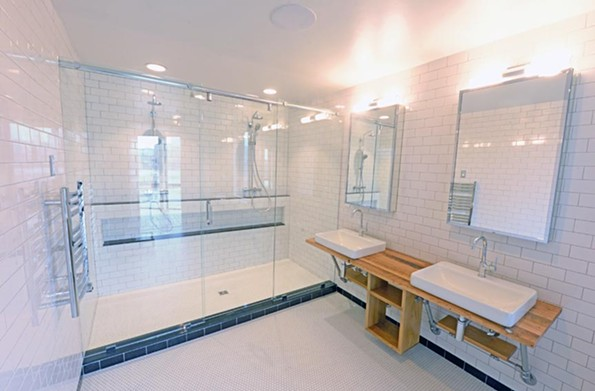 Classic beauty is a mainstay of the town homes at the 7west complex in Manchester, including the bathrooms. Everything is designed to be timelessly impressive. - SCOTT ELMQUIST