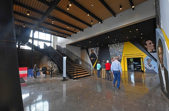 Visitors pass through the exhibition lobby to reach galleries and the stairway or elevator to the museum's second floor. - SCOTT ELMQUIST
