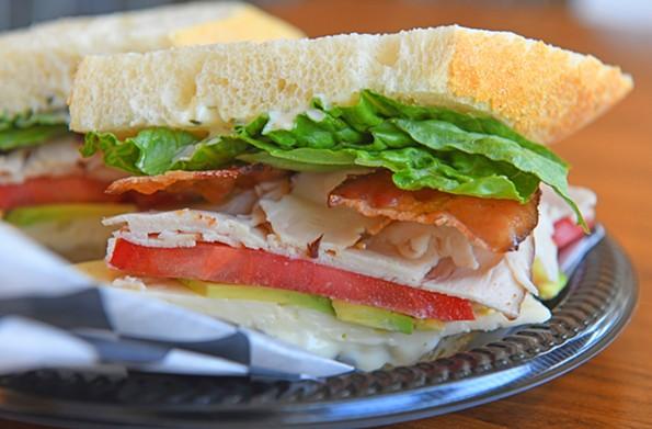 The Northender sandwich with turkey, bacon and havarti on French bread. - SCOTT ELMQUIST