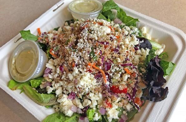 The quinoa salad at Zoës is a hearty mix of greens, quinoa, veggies, feta and lemon vinaigrette. - SCOTT ELMQUIST