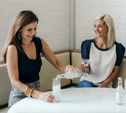 Katie Williams, at left, and Jenny Lucas founded Navy Hill after asking a bartender to blend club soda and tonic. - PHOTO COURTESY NAVY HILL