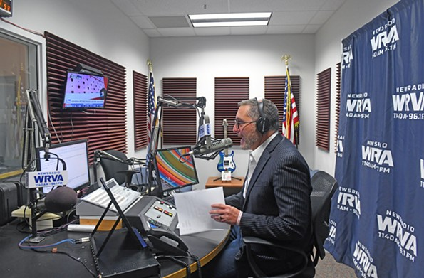 Reid arrives for his show, which runs from 5:30-10 a.m. on WRVA, around 5 a.m. Ratings show that the station is growing among its key demographic, and managers say there are signs of increased interest from younger listeners. - SCOTT ELMQUIST