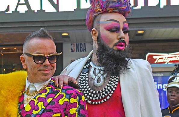 Legendary Damon and Dee Trammy Bear are friends of artist Kehinde Wiley - SCOTT ELMQUIST
