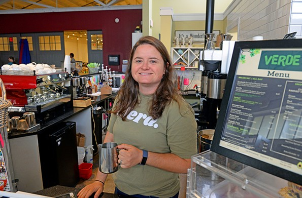 Ginny Gum is manager of Guncotton Coffee and Gallery, which she says is all about providing flexibility for employees. - SCOTT ELMQUIST