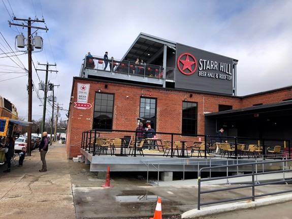 The new Starr Hill Beer Hall and Rooftop opened in Scott's Addition at 3406 W. Leigh St. on Saturday.