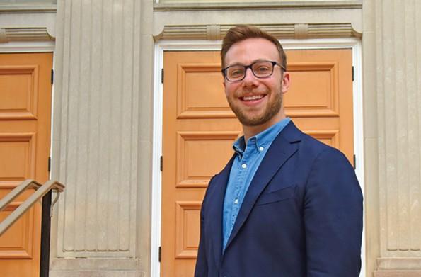 Rabbi Michael Knopf in front of Temple Beth-El. - SCOTT ELMQUIST/FILE