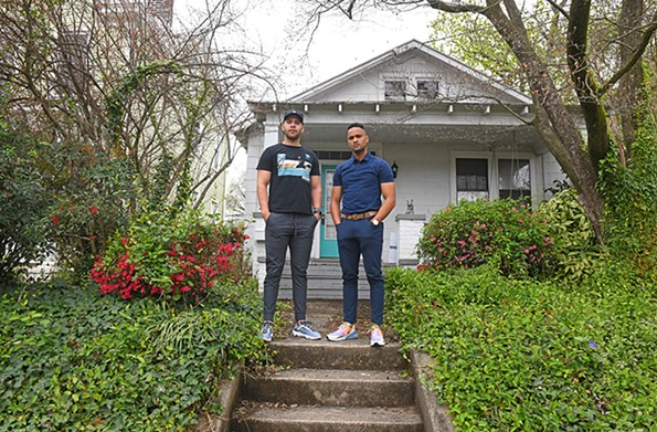 Corey Ambers, at left, and housemate, fellow golfer and business partner Gavin Parker have shifted their passions for golf from the links to cyberspace. - SCOTT ELMQUIST
