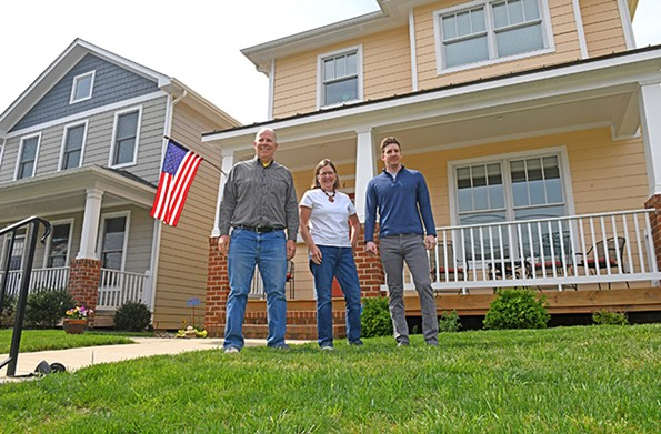 Steve and Janice Carter-Lovejoy recently welcomed their son, Jake, from Chicago. - SCOTT ELMQUIST