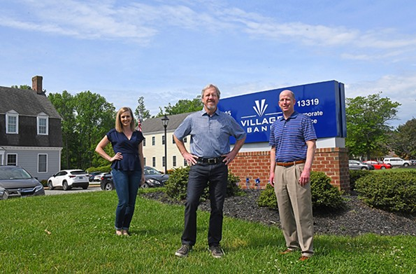 Kim Wills, Bill Foster and Max Morehead of Village Bank processed more than 900 Paycheck Protection Program applications in 13 days. - SCOTT ELMQUIST