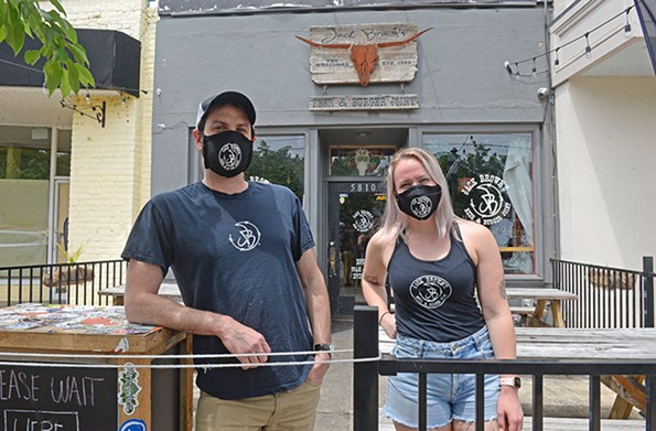 Ray Forthruber and Victoria Stumpf of Jack Brown's Beer & Burger Joint. - SCOTT ELMQUIST