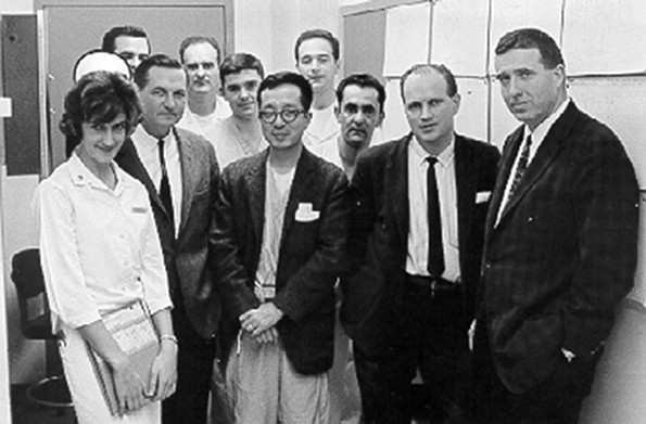 Hard-partying Dr. David Hume (far right) and his staff led MCV's research renaissance. - VCU LIBRARIES