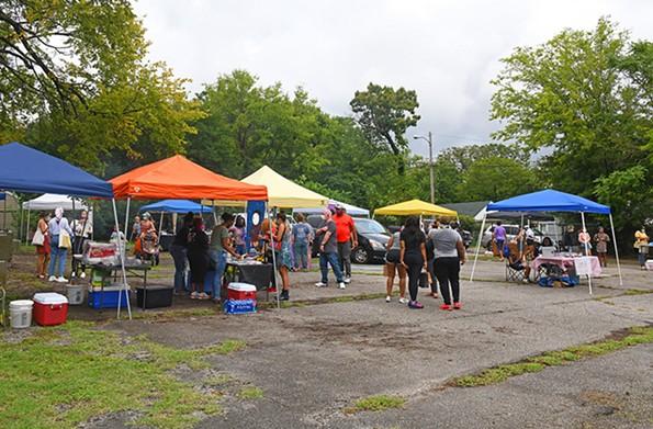 Vendors at the RVA Black Farmers Market. - SCOTT ELMQUIST