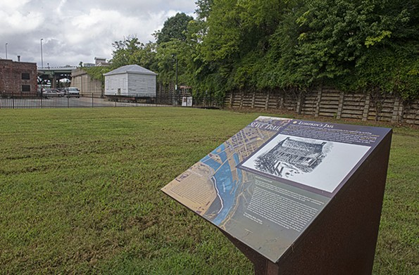 """Campbell believes that a museum at the Lumpkin's Jail site is necessary """"to tell the truth about the Constitution and the ideals of this country and their failings, and the need for redemption."""" He also believes the site would become a major tourist attraction. - SCOTT ELMQUIST/FILE"""