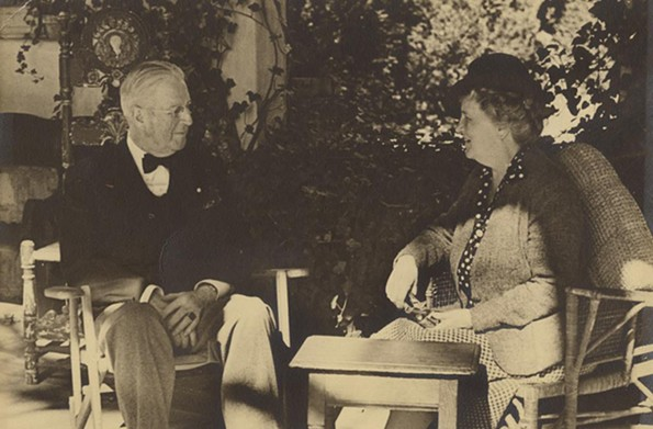 Alexander and Virginia Chase Steedman Weddell at Virginia House. - IMAGE COURTESY OF THE VIRGINIA MUSEUM OF HISTORY & CULTURE
