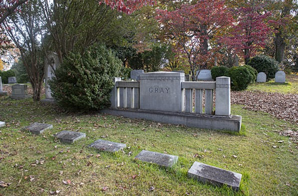 The Gray family plot in Hollywood Cemetery. - SCOTT ELMQUIST