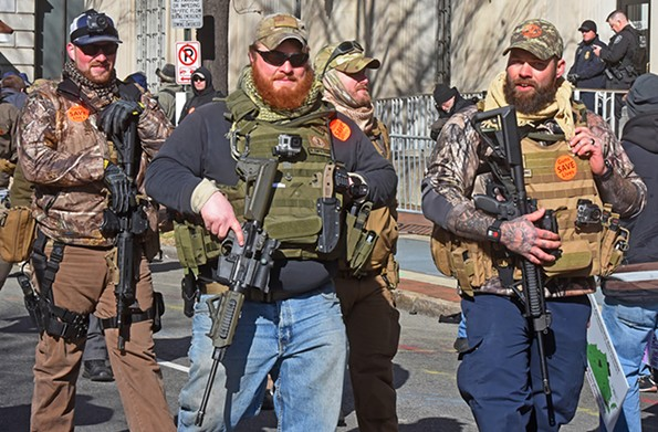A gun rally held during this year's Lobby Day. - SCOTT ELMQUIST