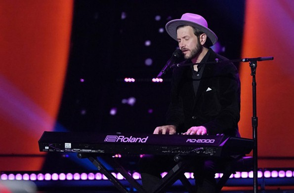 "Sid Kingsley performs on ""The Voice."" - NBC/TYLER GOLDEN"